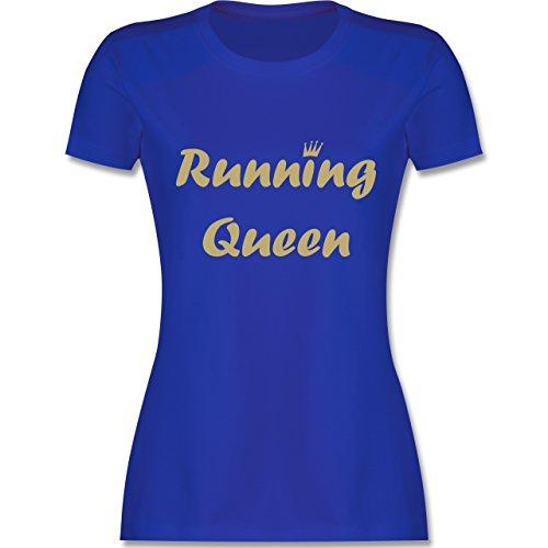 Laufsport - Running Queen - tailliertes Premium T-Shirt mit Rundhalsausschnitt für Damen Royalblau