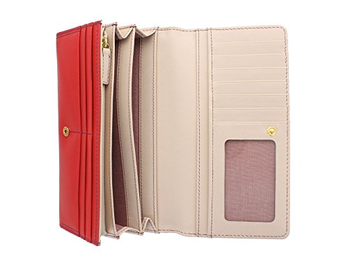 Tula liscio ORIGINALS donna in pelle borsa con contrasto interiore 7649 Mouse Pillar Box