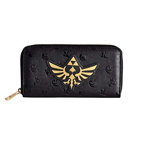 Difuzed BV Zelda Geldbörse Hyrule Logo Hylian Symbols 19x10x2cm Elbenwald schwarz