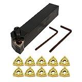 SM SunniMix Set de Brocas para Tornos Torneado Herramienta Metal CNC con Insertos de Carburo Equipo de Industrias