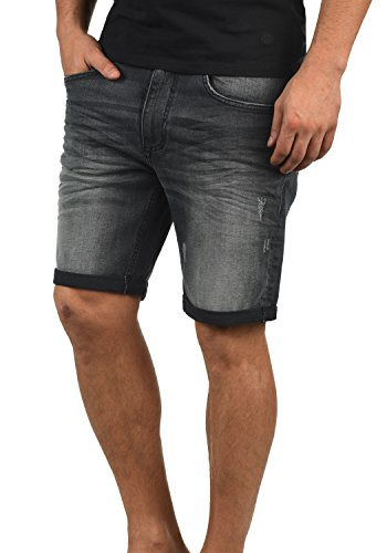 Blend Luke Herren Jeans Shorts Kurze Denim Hose Mit Destroyed-Optik Aus Stretch-Material Slim Fit, Größe:XXL, Farbe:Denim Dark Grey (76209)