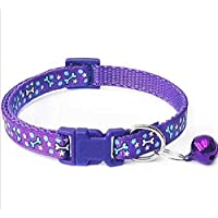 PSK Printed (18-30 cm) Adjustable Cat Everyday Collar, Small, Purple