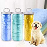Petlicious & More Suede Material Bath Towel Ultra-Absorbent Dog Towels Machine Washable Towel for Small Medium Large…