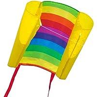 CIM Einleiner-Drachen - Beach Kite - Einleiner Flugdrachen für Kinder ab 6 Jahren - Abmessung: 70x47cm - inkl. 40m Drachenschnur und Streifenschwänze …
