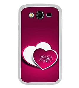 PrintVisa Designer Back Case Cover for Samsung Galaxy Grand Neo Plus I9060I :: Samsung Galaxy Grand Neo+ (Valentine Day Two Heart Pattern)