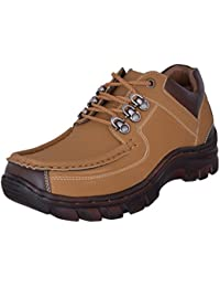Marshal Men's Cool Chief Tan Nubuck Leather Casual Shoes Boots
