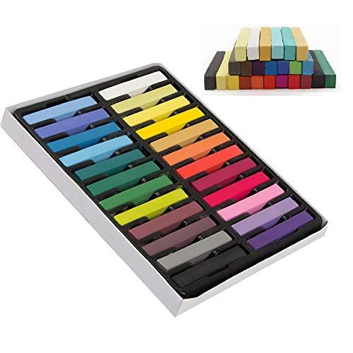 Hair Kreide Satz mit 24 Farben -