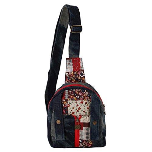 Imagen de chang spent nueva bolsa de mensajero de la lona del pecho de vaquero pequeño paquete cuadrado de las mujeres , a