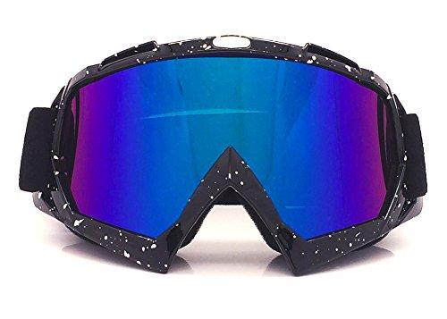 TININNA Unisexe Masque et Lunettes de Protection Anti UV Anti-rayures Étanche à la Poussière Étanche au Vent Convient pour le Ski de Neige,le Vélo,l'escalade, l'équitation et les Sports de Plein Air #2
