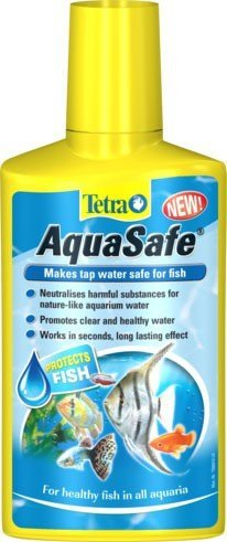 Tetra AquaSafe, to Turn Tap Water into Safe and Healthy Water for Fish and Plants, 5 Litre