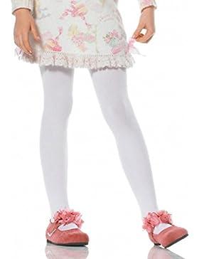 Leg Avenue Mädchen Strumpfhose weiß blickdicht Größe XL ca. 146 bis 158
