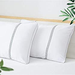 BedStory Sleeping Pillows Hotel Collection Pillow Pack of 2 Goose Down Alternative Premium Quality Bed Pillows for Back Stomach and Side Sleepers Hypoallergenic Dust-Mite Resistant