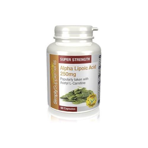 Alpha Lipoic Acid 250mg | Ideal for use alongside Acetyl L-Carnitine | Vegan & Vegetarian Friendly...