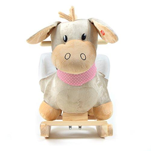 Pink Papaya Schaukeltier - Esel Pepe - Kinder und Baby Schaukelpferd, spezieller Schaukelstuhl für Kinder, mit Sound, Kopfhöhe ca. 50 cm, Sitzhöhe ca. 30 cm - 2