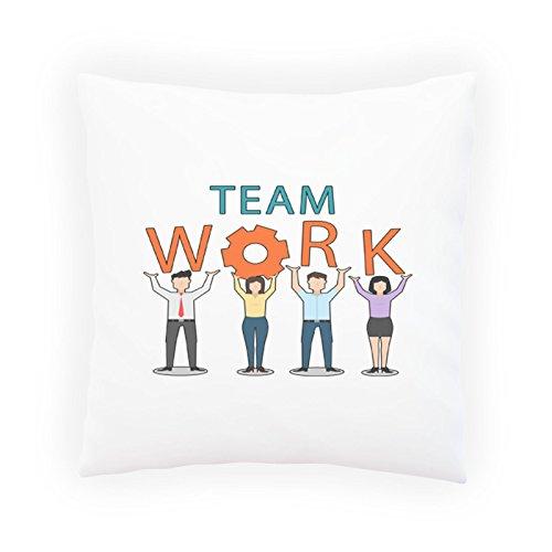 Teamarbeit Glückliche Männer Dekoratives Kissen, Kissenbezug mit Einlage/Füllung oder ohne, 45x45cm p786p