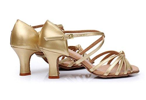 TDA ,  Damen Knöchel-Riemchen 7cm Gold