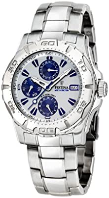 FESTINA Sport 16242/1 - Reloj unisex de cuarzo, correa de acero inoxidable color plata