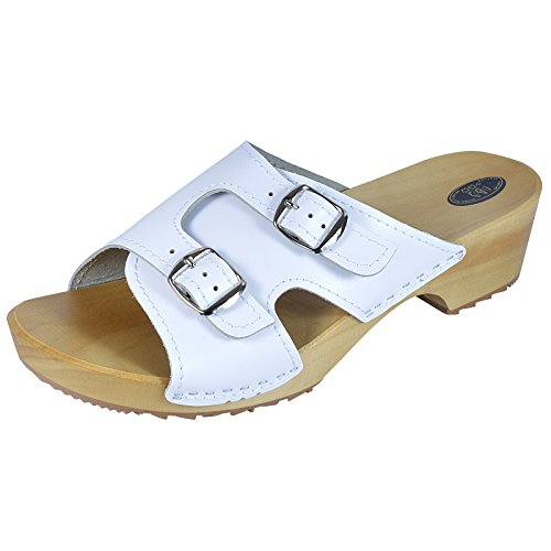 aveego, Mules pour Femme White 3