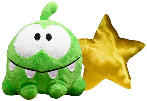 Om Nom Smile/Star Reversible Plush - Cut The Rope - 15cm 6""