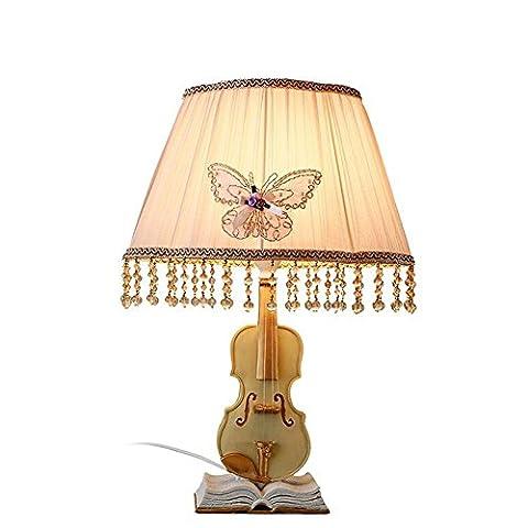 L@YC Schlafzimmer Lampe Am Bett Wohnzimmer Kreativ Violine Tuch Tischdekoration Dimmen Warm Tischlampen , as picture , A