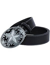 a93cf657838 Sharplace Ceinture En Cuir Western Boulce Forme de Étoile Cowboy Vintage  Belt