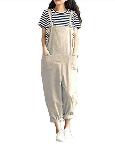 ZANZEA StyleDome Women's Retro Loose Casual Baggy Sleeveless Overall Long Jumpsuit Playsuit Trousers Pants Dungarees Test