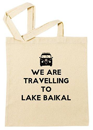 Preisvergleich Produktbild Erido We Are Travelling to Lake Baikal Einkaufstasche Wiederverwendbar Strand Baumwoll Shopping Bag Beach Reusable