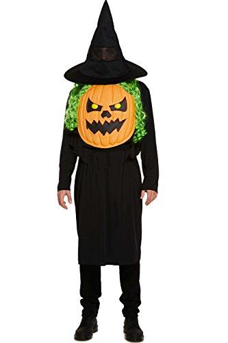 Adult's Halloween Jumbo Pumpkin Head Face Fancy Dress Costume -One Size (Adult Kostüm Pumpkin)