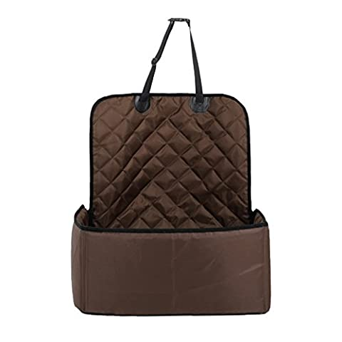 Puppy Purpose Pet Dogs and Cats Special Vehicles Prevent Dirty Mat , Brown Diamond Lattice Fixed Safety Cushion for