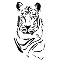 Fliyeong Black Wide Tiger Head Wall Mural Art Sticker for Home Decor