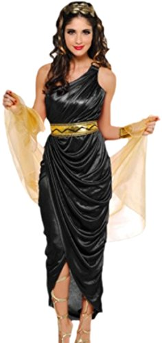 Karnevalsbud - Damen Ägyptische Prinzessin Kostüm, Karneval, Fasching, Kostümset, 38, Schwarz