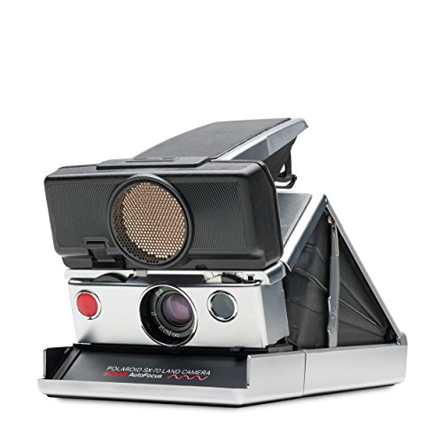 Polaroid SX-70 Camera - Sonar Silver & black skin