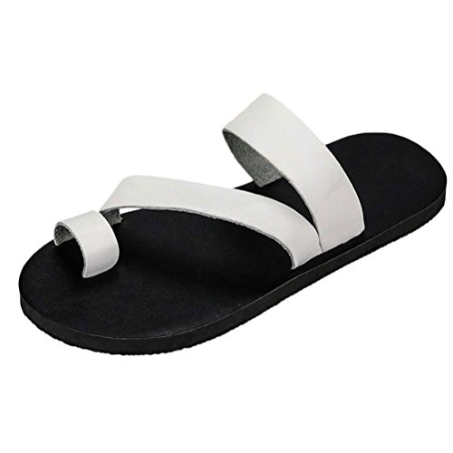 Zhhlinyuan Summer Holiday Sandals Flip Flops Mens Beach Casual Shoes 3 Colors White