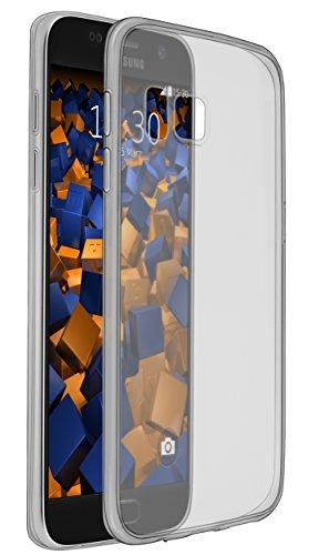mumbi UltraSlim Hülle für Samsung Galaxy S7 Schutzhülle schwarz transparent (Ultra Slim - 0.80 mm)