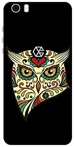 The Racoon Lean printed designer hard back mobile phone case cover for Creo Mark 1. (angry owl)