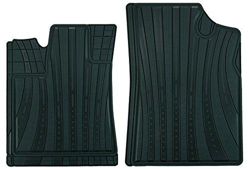 Preisvergleich Produktbild CarFashion 232011 Lemans Allwettermatte AB1 Matten Vorne 2-teilig TPE Gimatte Schwarz Auto Fußmatten Set Ohne Mattenhalter