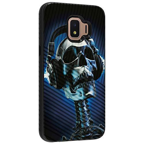 TurtleArmor Schutzhülle für Samsung Galaxy J2 Core, J2 Schutzhülle für Armaturenbrett, schlankes Design, Hybrid, zweischichtige Gravur, Skeleton Headphone Iphone 3g-skeleton