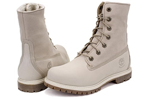 Timberland, Auth Teddy Fleece Wp Wheat, Stivali, Donna Bianco
