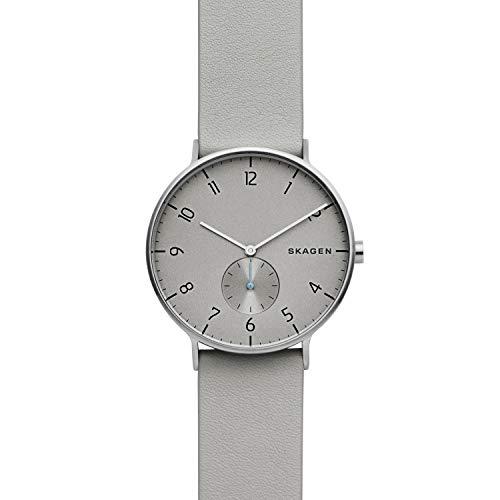 Skagen Reloj Analógico para Hombre de Cuarzo con Correa en Cuero SKW6467