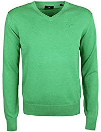 27bef323eb8 GANT Men s Light Weight Cotton Long Sleeve V-Neck Jumper