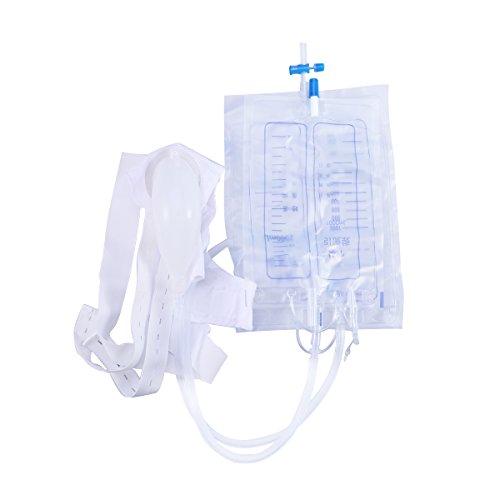 Healifty Urinbeutel Drainagetasche mit Antireflexkammer Medizinische Easy Tap Beintasche (2000ml)