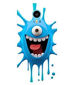 Printvisa one eyed blue monster cartoon character Back Case Cover for Meizu m2 note::Meizu Blue Charm Note2