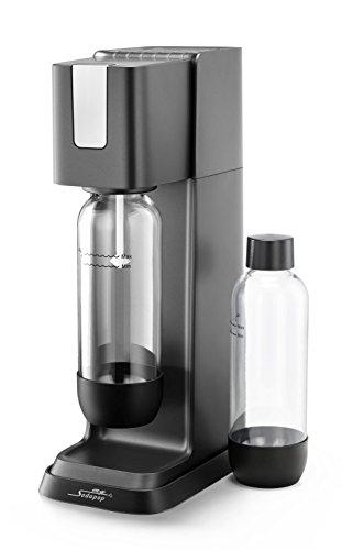 MySodapop Jerry Wassersprudler inklusive 2 PET-Flaschen und 1 CO2-Zylinder; Farbe: schwarz/anthrazit