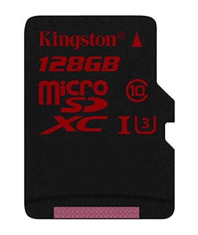 Kingston 128go - Kingston SDCA3/128GB Carte MicroSDHC/SDXC UHS-I U3 90R/80W