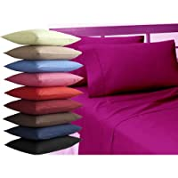 "Single Plain Dyed Standard Pillowcase 19""x29""/48x74cm- In 22 Colours (Light Blue)"