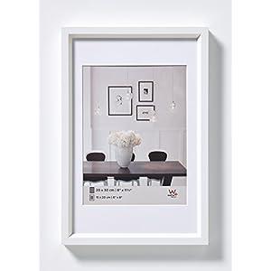 walther design, ES070W Steel Style, Kunststoff-Bilderrahmen, 50x70 cm, weiß