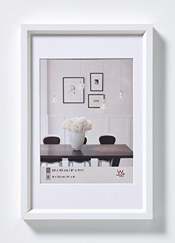 walther design, ES460W Steel Style, Kunststoff-Bilderrahmen, 40x60 cm, weiß