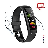 YoYoFit Lod Kids Health Fitness Tracker with Heart Rate Monitor, Waterproof Activity Tracker Watch Sleep Monitor Blood Pressure Alarm Clock Smart Band Fitness Watch with 5 Sport Modes for Boys Grils