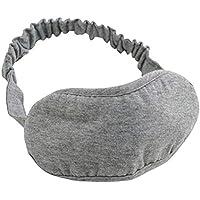 SUPVOX Máscara durmiente Máscara de ojos de algodón Engrosada con los ojos vendados Cubierta para las mujeres Niños Niños Cama en casa Viajar Vuelo Coche Camping Uso de la oficina (Gris)