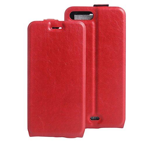 iPhone 7 Plus Coque, Apple iPhone 7 Plus Coque, Lifeturt [ Blanc ] Coque Dragonne Portefeuille PU Cuir Etui en Cuir Folio Housse, Leather Case Wallet Flip Protective Cover Protector, Etui de Protectio E02-Rouge